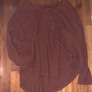 soft american eagle button up